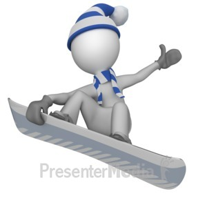 ID# 10209 - Snowboarder Doing Trick - Presentation Clipart