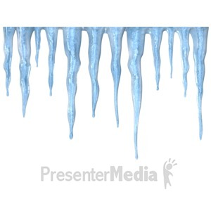 ID# 10210 - Icicles - Presentation Clipart