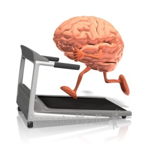 ID# 10257 - Brain Running On Treadmill - Presentation Clipart