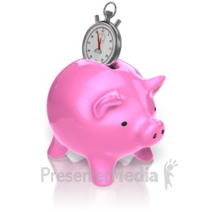 ID# 10265 - Piggy Bank Time - Presentation Clipart