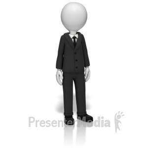 ID# 10312 - Businessman Standing - Presentation Clipart