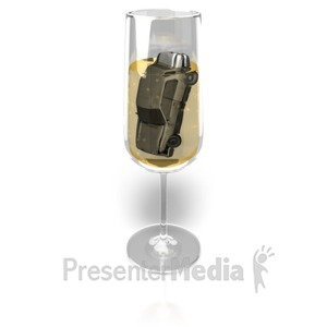 ID# 10336 - Champagne Drink and Drive - Presentation Clipart