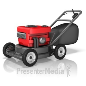 ID# 10391 - Rugged Lawnmower - Presentation Clipart