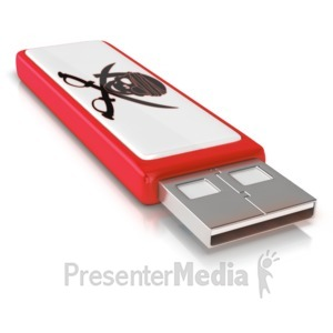 ID# 10462 - USB Data Theift - Presentation Clipart
