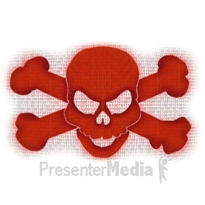 ID# 10469 - Binary Data Piracy - Presentation Clipart