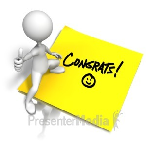 ID# 10486 - Congrats Sticky Note - Presentation Clipart