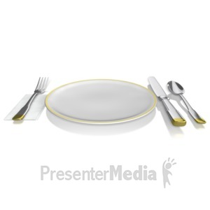ID# 10503 - Place Setting - Presentation Clipart
