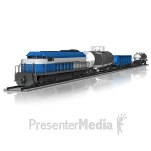 ID# 10654 - Cargo Train - Presentation Clipart