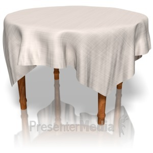 ID# 10664 - Table With Cloth - Presentation Clipart