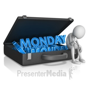 ID# 10709 - Having A Case Of The Mondays - Presentation Clipart
