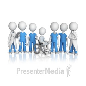 ID# 10747 - Patient Surrounded By Medical Team - Presentation Clipart