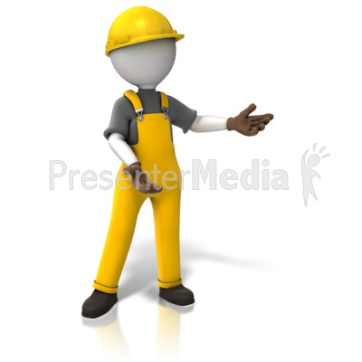 Construction Worker Display PowerPoint Clip Art