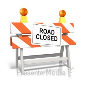 ID# 10780 - Road Closed Sign - Presentation Clipart