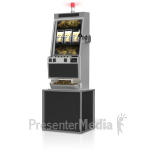 ID# 10784 - Slot Machine Winner - Presentation Clipart