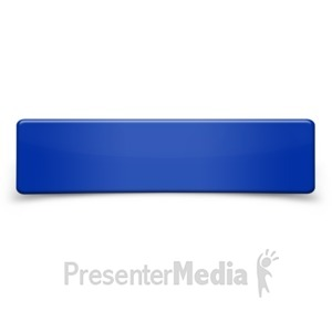 ID# 10841 - Rectangle Shape Sign Bent - Presentation Clipart