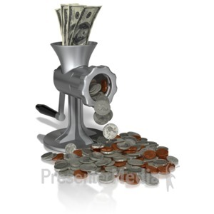 ID# 10844 - Money Grinder - Presentation Clipart
