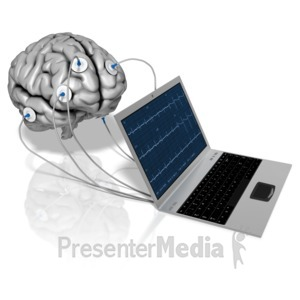 ID# 10862 - Notebook Brain Electrodes - Presentation Clipart