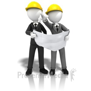 ID# 10888 - Construction Figure Point - Presentation Clipart