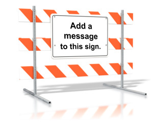 ID# 10923 - Standing Road Sign Blank Text - Presentation Clipart