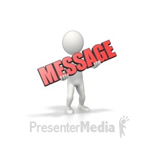 ID# 10926 - Figure Hold Text - Presentation Clipart