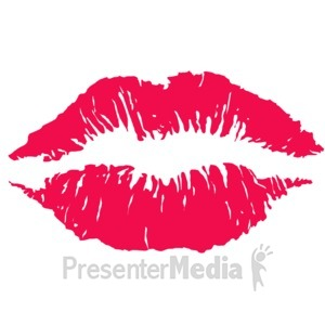 ID# 10951 - Lips Kiss Imprint - Presentation Clipart