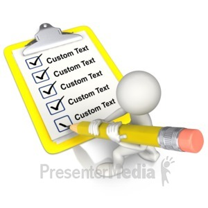 ID# 10957 - Check It Off The List Text - Presentation Clipart