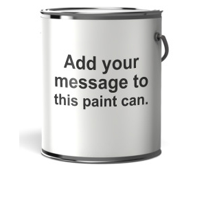 ID# 10966 - Paint Can Blank Label Text - Presentation Clipart