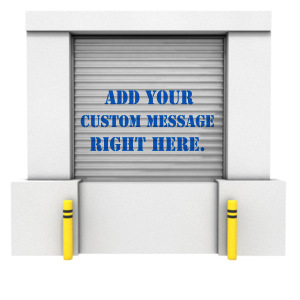 ID# 10986 - Loading Dock Closed Bay Text - Presentation Clipart