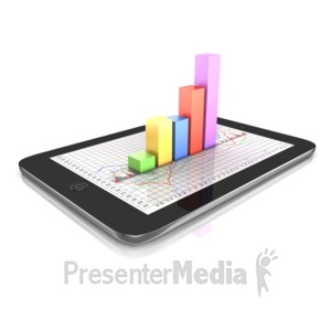 ID# 11009 - Graph On Tablet - Presentation Clipart