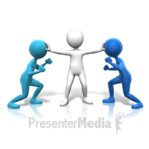 ID# 11096 - Holding Back Competitors - Presentation Clipart