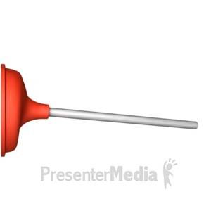 ID# 11140 - Stuck Plunger - Presentation Clipart