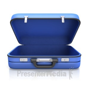 ID# 11144 - Empty Suitcase - Presentation Clipart
