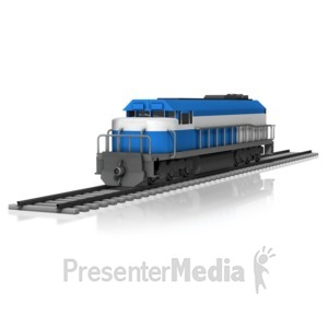 ID# 11180 - Train Engine - Presentation Clipart
