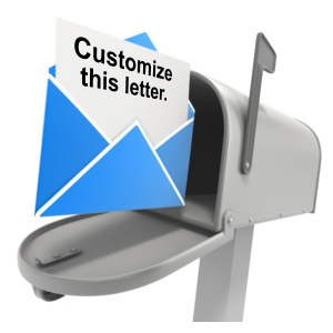ID# 11236 - Mailbox Opened Letter Text - Presentation Clipart