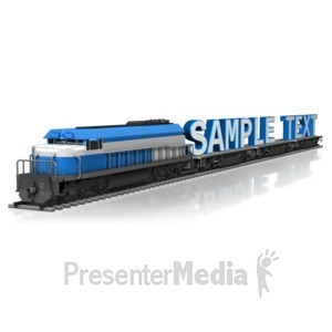 ID# 11262 - Train Haul Text - Presentation Clipart