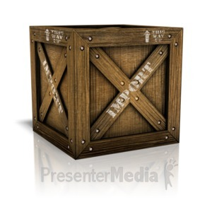 ID# 11266 - Imported Crate Box - Presentation Clipart