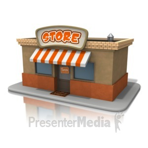 ID# 11268 - Open Store Front - Presentation Clipart