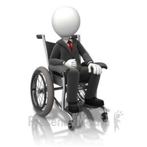 ID# 11278 - Business Figure Wheelchair - Presentation Clipart