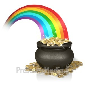 ID# 11286 - Shiny Rainbow Gold - Presentation Clipart