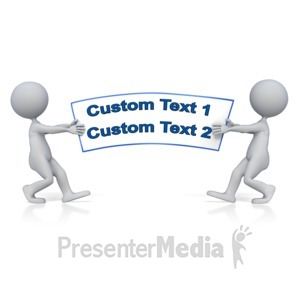 ID# 11305 - Tug Of War Text - Presentation Clipart