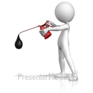 ID# 11314 - Figure Using Oil Can - Presentation Clipart
