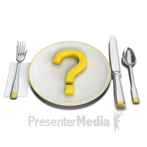 ID# 11336 - Whats For Dinner - Presentation Clipart