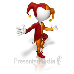 ID# 11393 - Jester Pose - Presentation Clipart