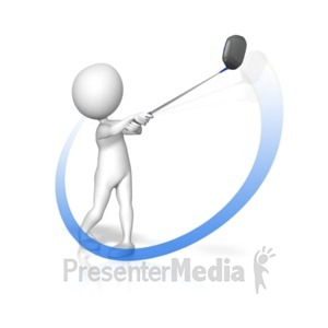 ID# 11394 - Golf Swing Swoop - Presentation Clipart