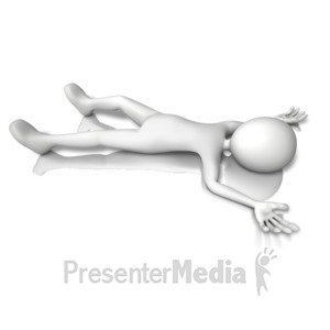 ID# 11395 - Figure Laying Down - Presentation Clipart