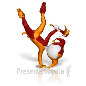 ID# 11405 - Jester Handstand - Presentation Clipart