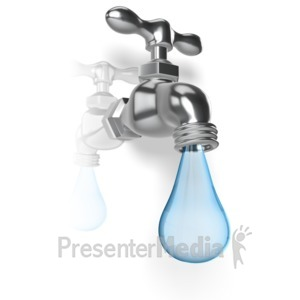 ID# 11410 - Water Faucet Drop - Presentation Clipart