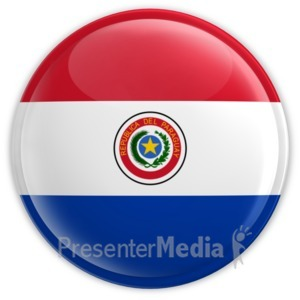 ID# 11433 - Paraguay Button - Presentation Clipart