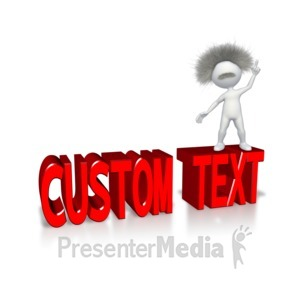 ID# 11504 - Smart Stick Figure With Custom Text - Presentation Clipart