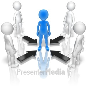 ID# 11526 - Group Leader Arrows - Presentation Clipart